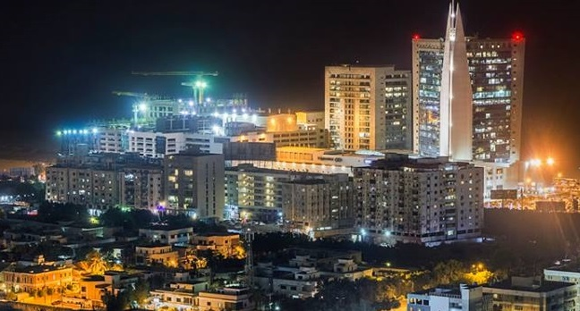 Night view of Clifton, Karachi